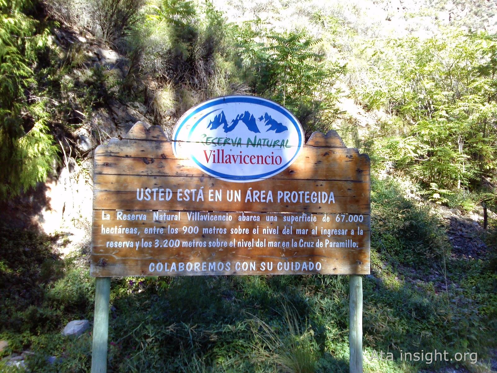 Área protegida Villavicencio