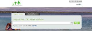 Cara Membuat Domain Gratis di Dot tk