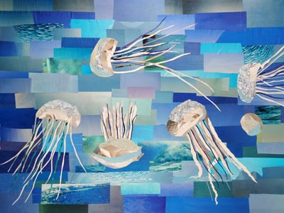 The Jellyfish Club by collage artist Megan Coyle