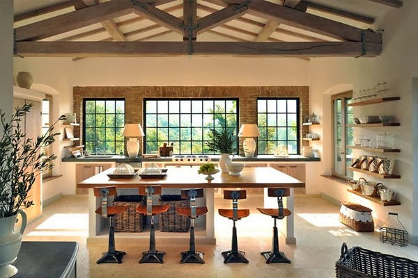 amenajari, interioare, decoratiuni, decor, design interior, stil clasic, vila , italia, bucatarie