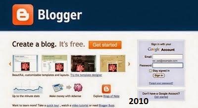 2010 yılında blogger