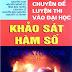 Sách chuyên đề khảo sát hàm số hay của Trần Văn Hạo