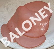 baloney slices labelled baloney