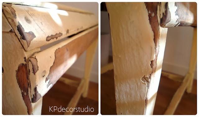 Sillas decapadas online, butacas y bancos de madera antiguos