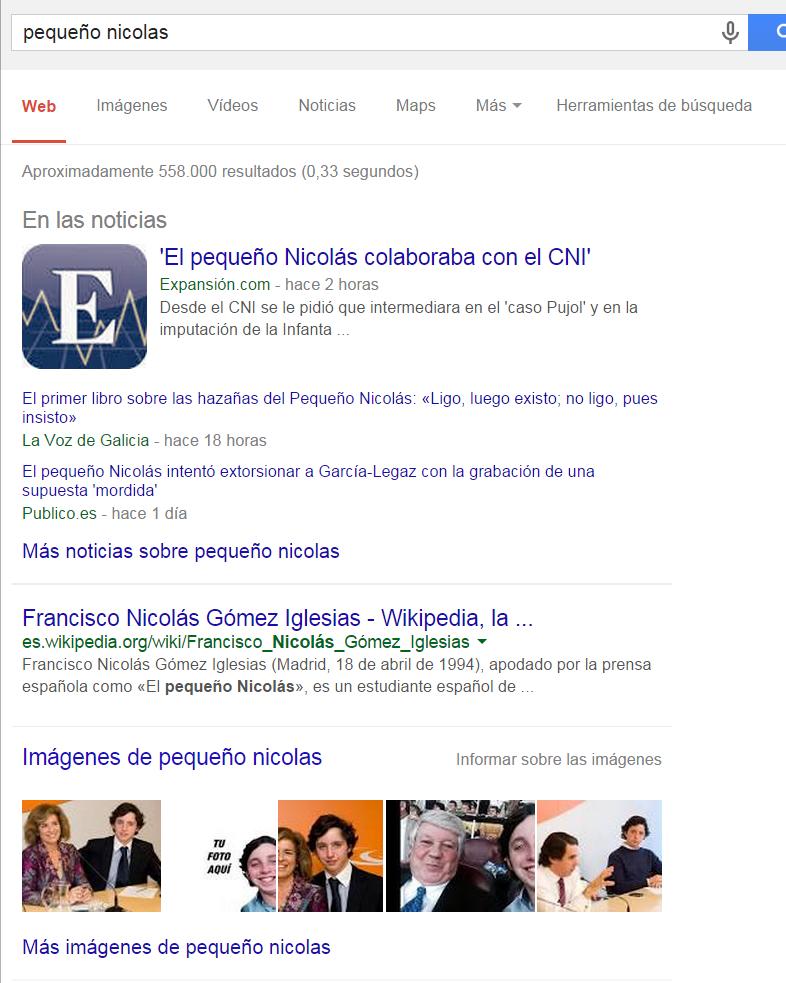 Google news en la red