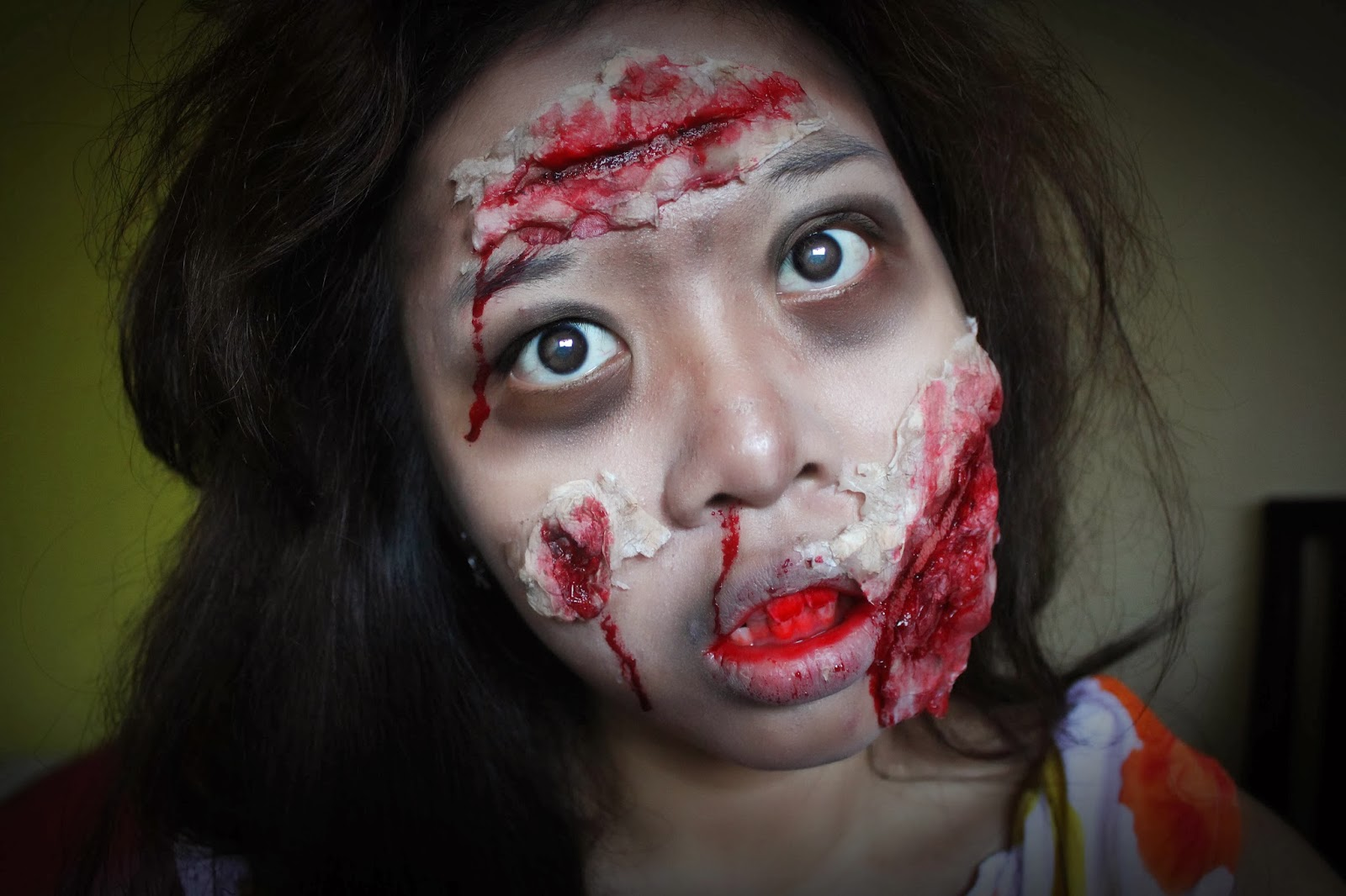Lala\'s Wonderland ♥: Tutorial: Zombie Makeup x DIY Edible Fake Blood