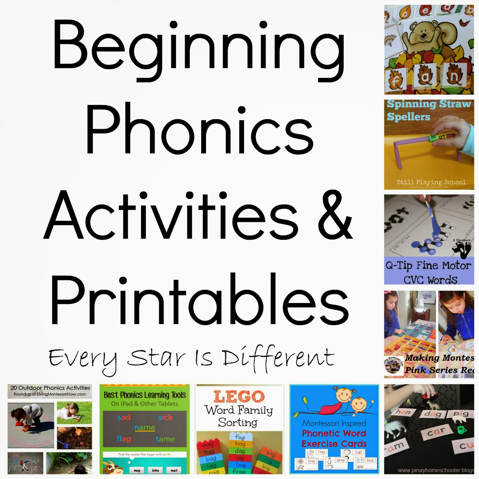 Unforgettable image for printable phonics games