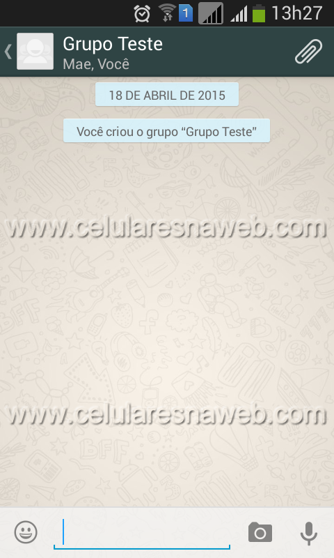 Desativar notificações grupos WhatsApp