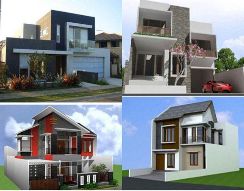 desain rumah 2 lantai minimalis populer