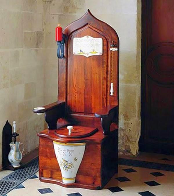 Wooden toilet of the eighteenth century