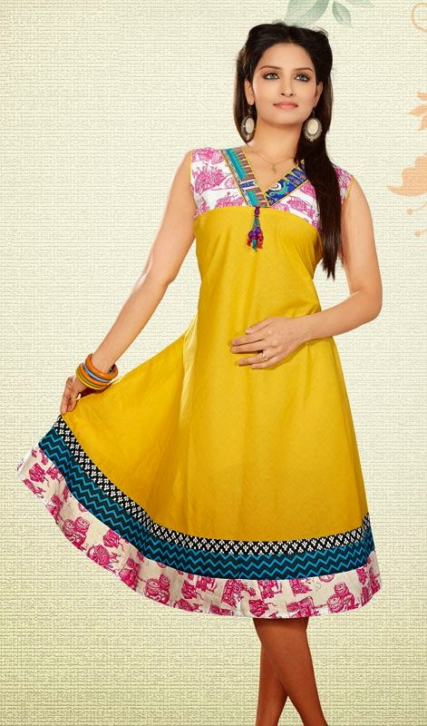 Wallpapers World Latest Collection Silk Cotton Long Tops