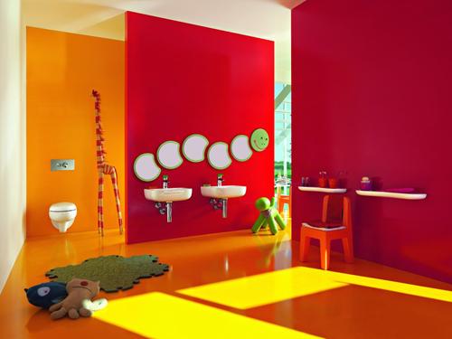 Decoracion Baños De Ninos:Baños de colores para niños