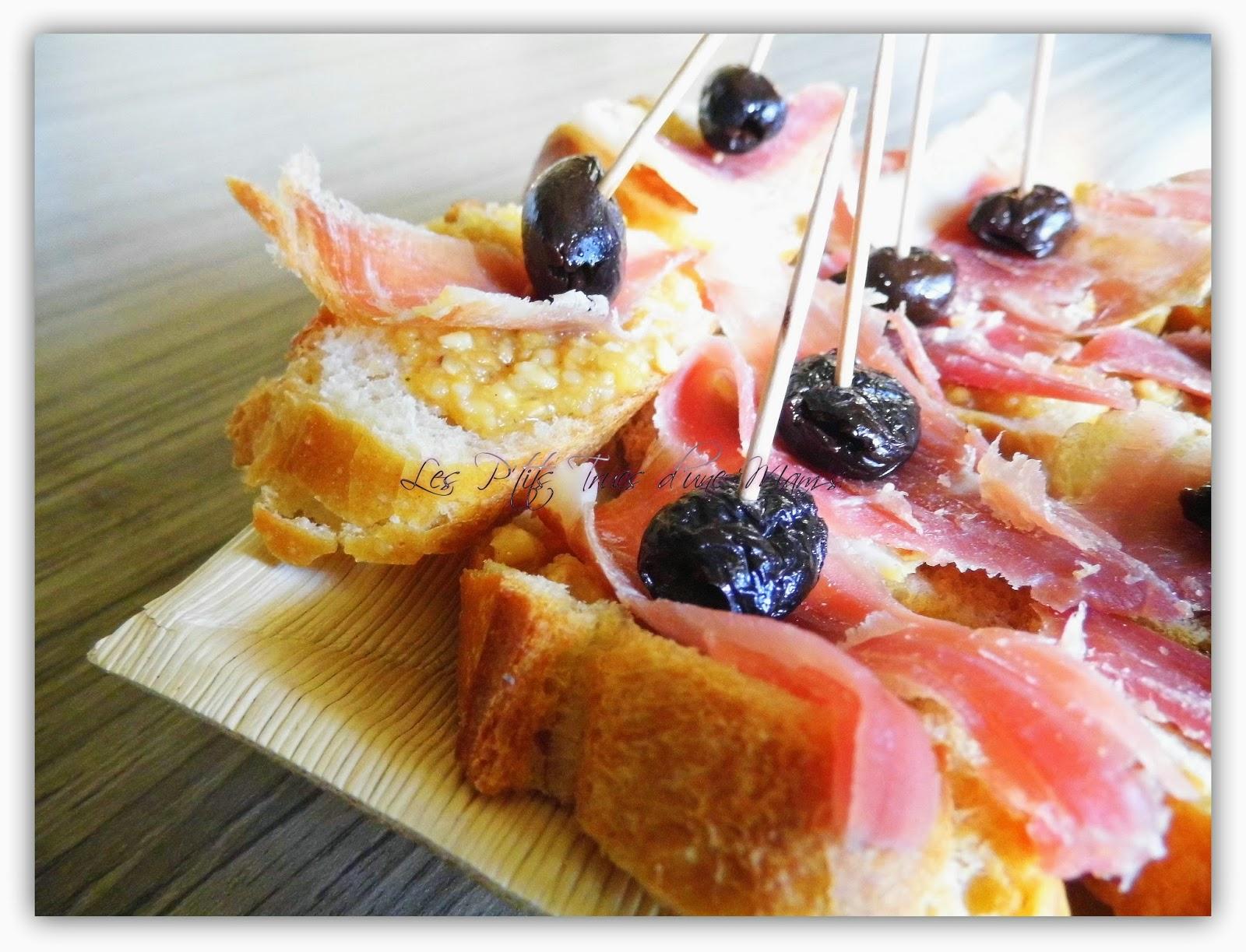 Petits toasts au pesto la truffe noire d 39 t jambon cru et olive noire les p 39 tits trucs d - Comment cuisiner les truffes noires ...