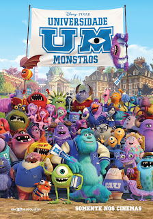 Pôster/cartaz/capa nacional e crítica de UNIVERSIDADE MONSTROS (Monsters University)