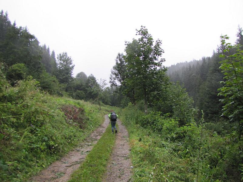 Droga przez przysiółek Bugalovci.