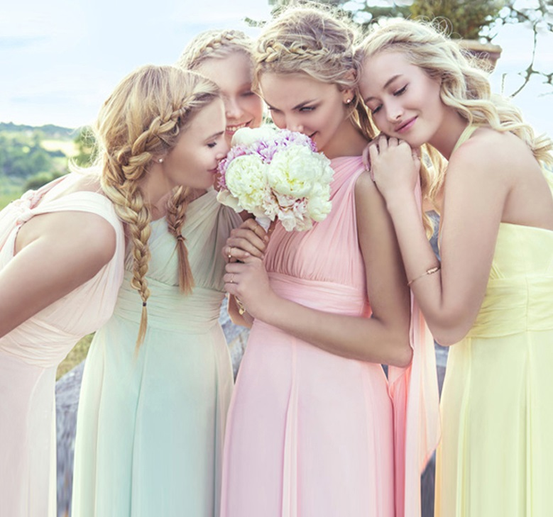 Multi-Color and Multi-Way Convertible Bridesmaids Chiffon Dress