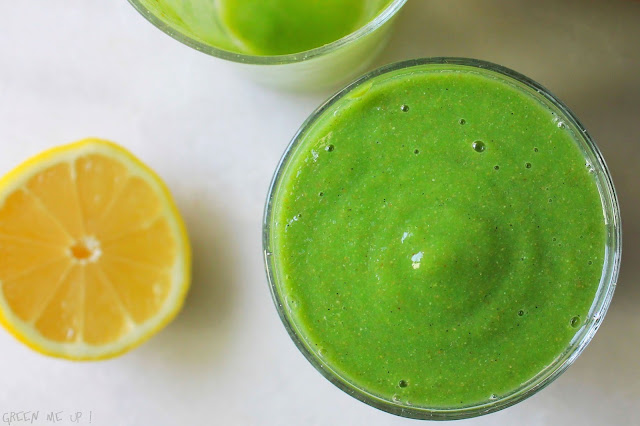 smoothie vert gingembre vanille agrumes poire