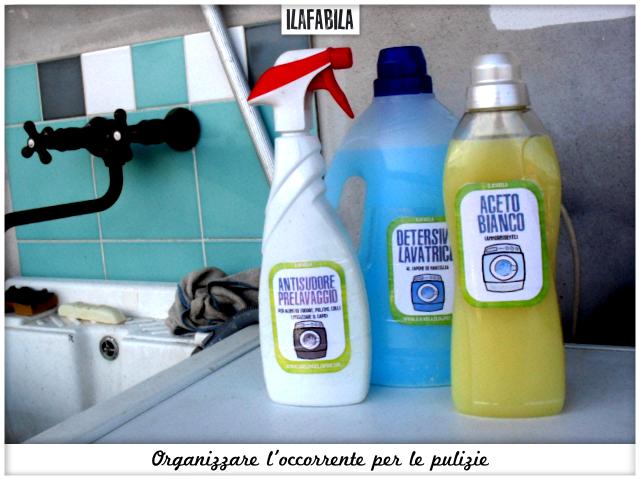 Organizzare l'occorrente per le pulizie - Lavatrice