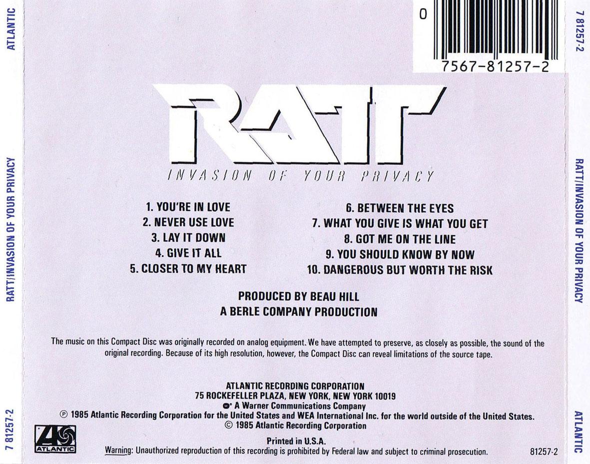 Swingville: Ratt - Invasion of Your Privacy (1985)