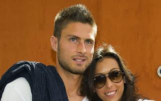 Olivier Giroud et Jennifer