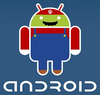 Imagen de la mascota de Android - Mario Bros