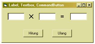 Cara membuat Label, TextBox, CommandButton (VB 6.0)
