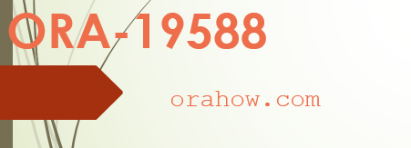 ORA-19588: archived log stamp is not longer valid