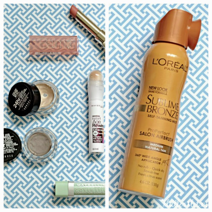 drugstore beauty budget maybelline color tatoo age rewind lip balm loreal self tanner bronze