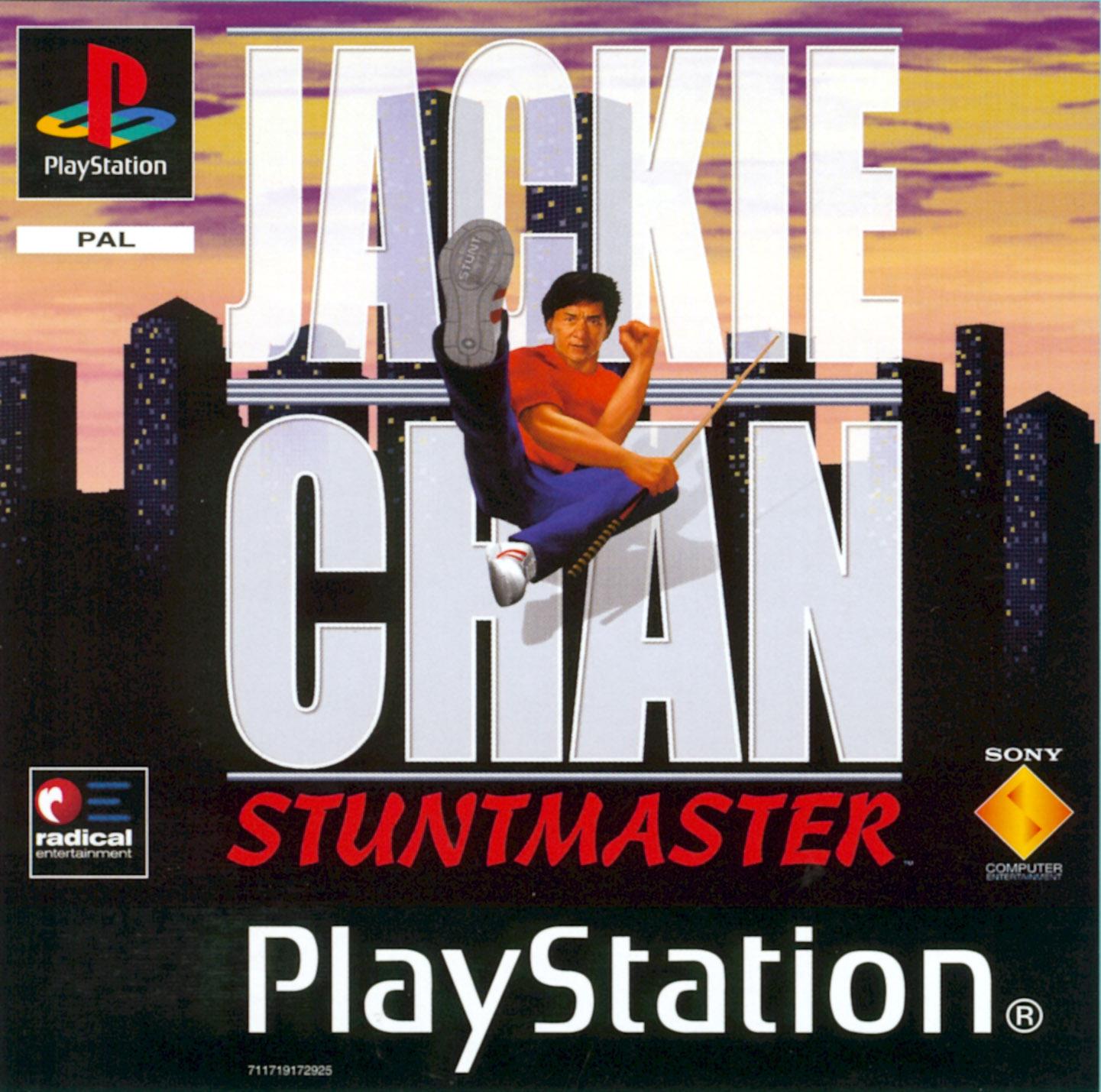 Jackie Chan Stuntmaster PS1 CD Capa