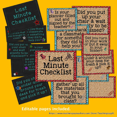Back to School Last MInute Checklist@teachingisagift.blogspot.ca