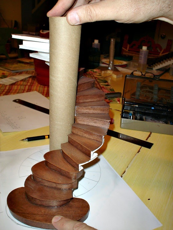 Miniature endeavors planning a miniature spiral staircase for Spiral staircase blueprints