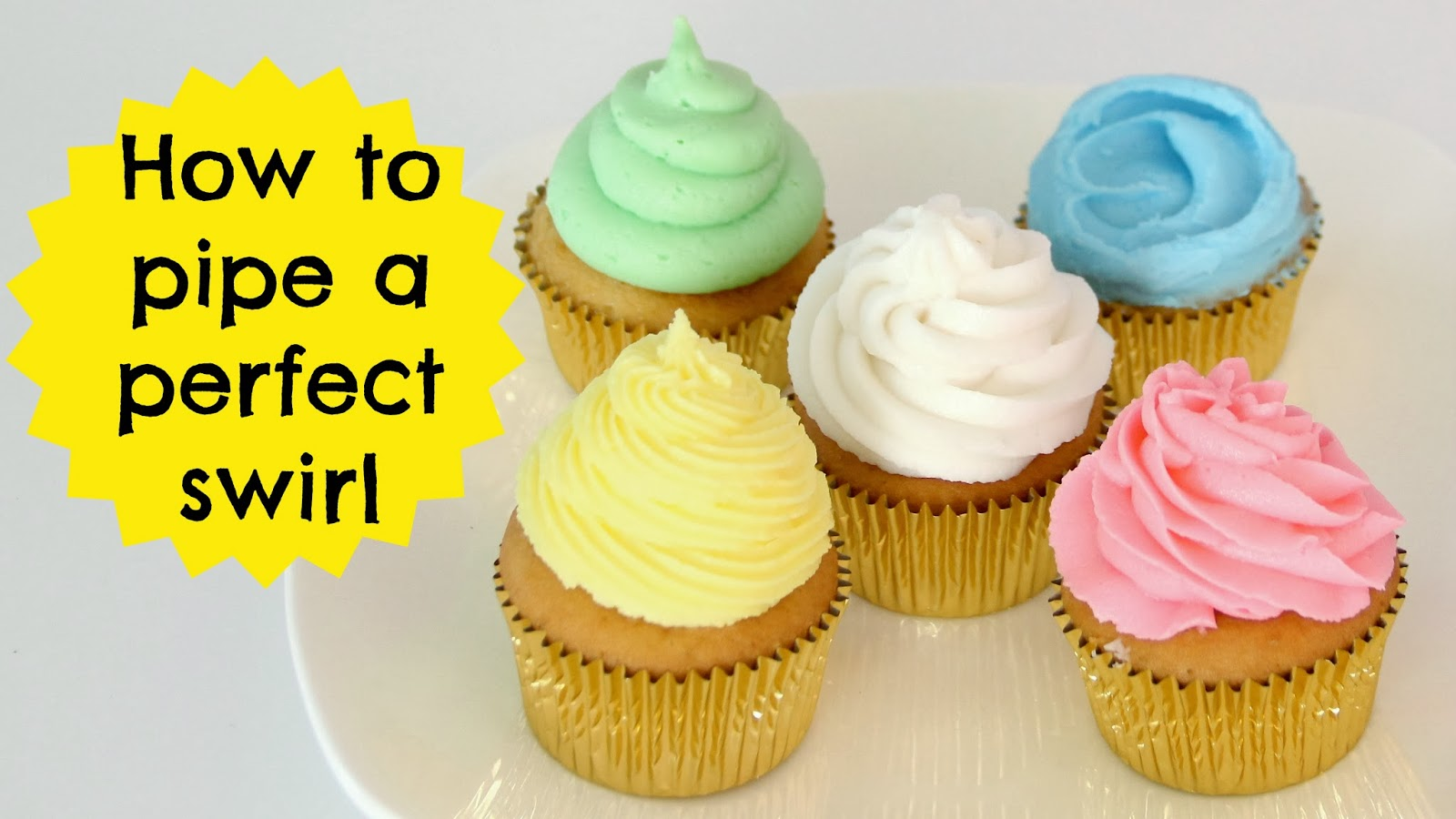 VIDEO How To Frost A Cupcake Part 1 The Perfect Bakery Swirl 5