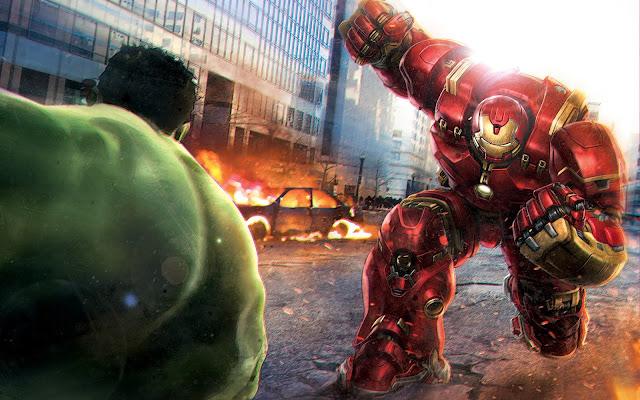 Hulkbuster vs Hulk wallpaper HD movie poster