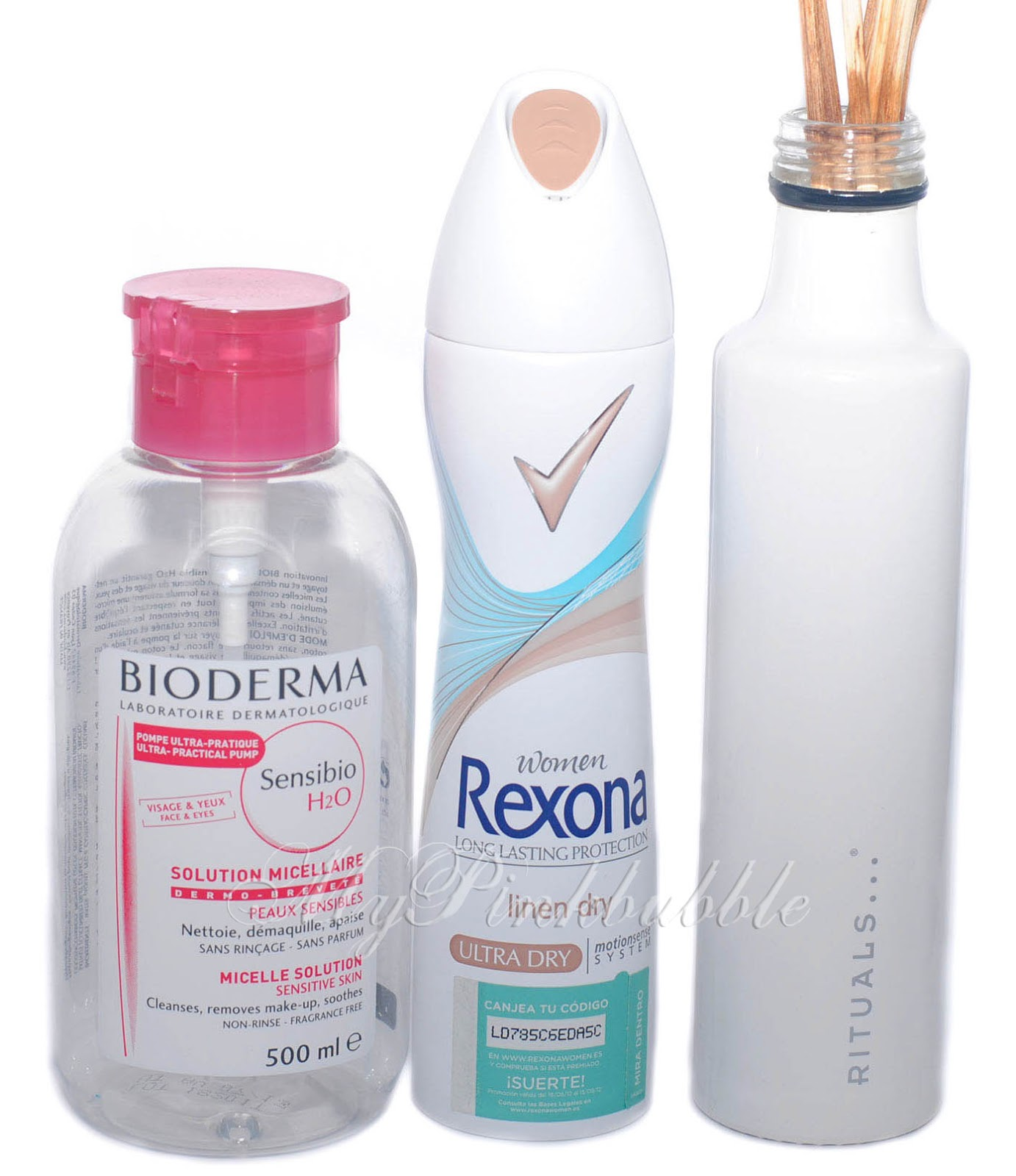 Bioderma agua micelar desodorante rexona rituals ambientador