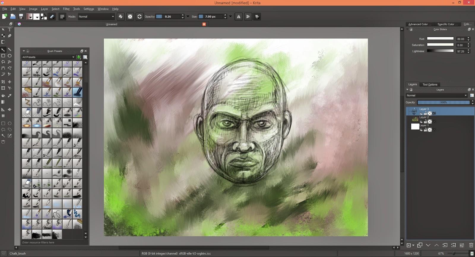 Meerkatsu Art Software Review Krita First Look
