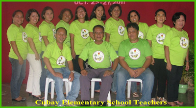 Cubay Elementary School Teachers with their School Principal
