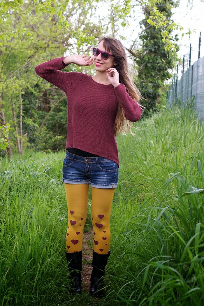 calze color senape