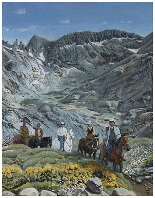 EL arte y las pinturas del caudillo Francisco Franco. Paisaje montañoso.