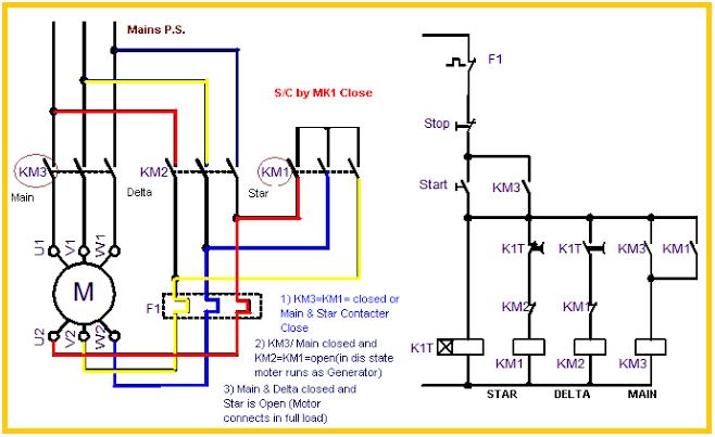 Power Circuit Of Star Delta Starter