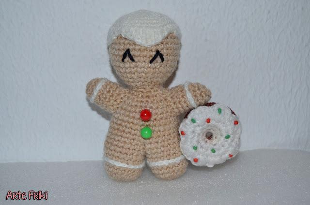 reto navidad christmas party amigurumi gingerdoll muñeco jengibre crochet ganchillo