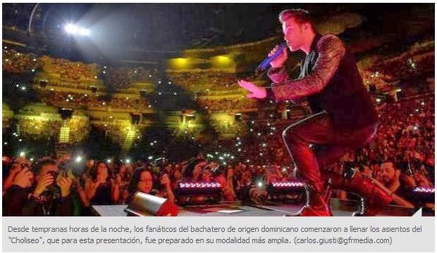 Prince Royce Llenó a capacidad el Coliseo José Miguel Agrelo