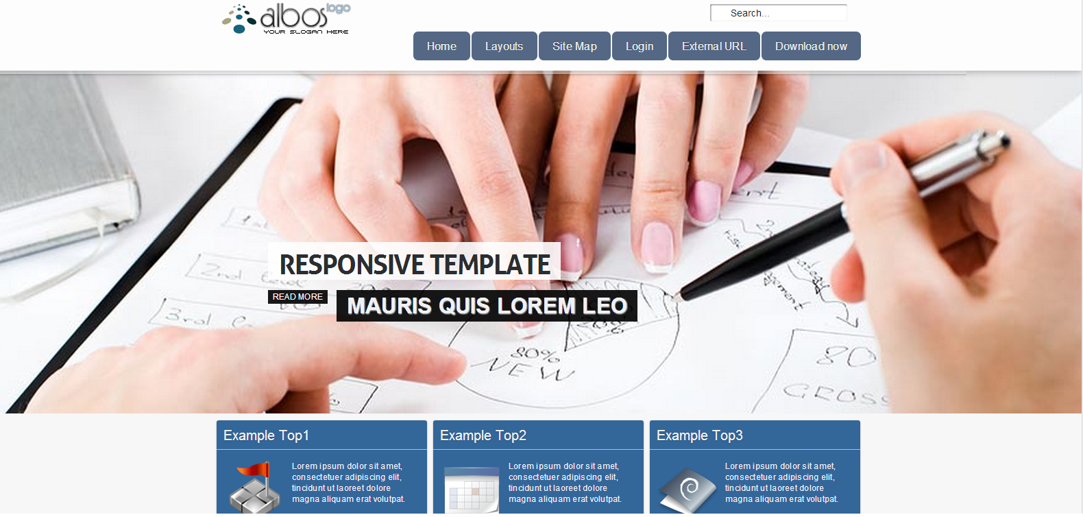 Ol Albos Free Joomla Business Template