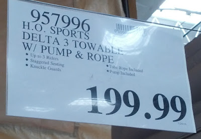 Deal for the HO Sports Delta 3 Towable Float with Pump & Rope at Costco