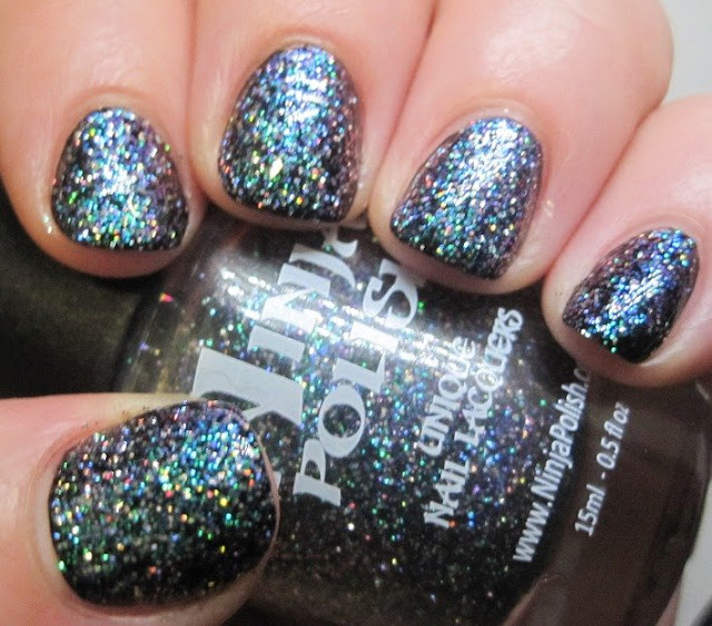 Ninja Polish Nebula over Cult Nails Nevermore