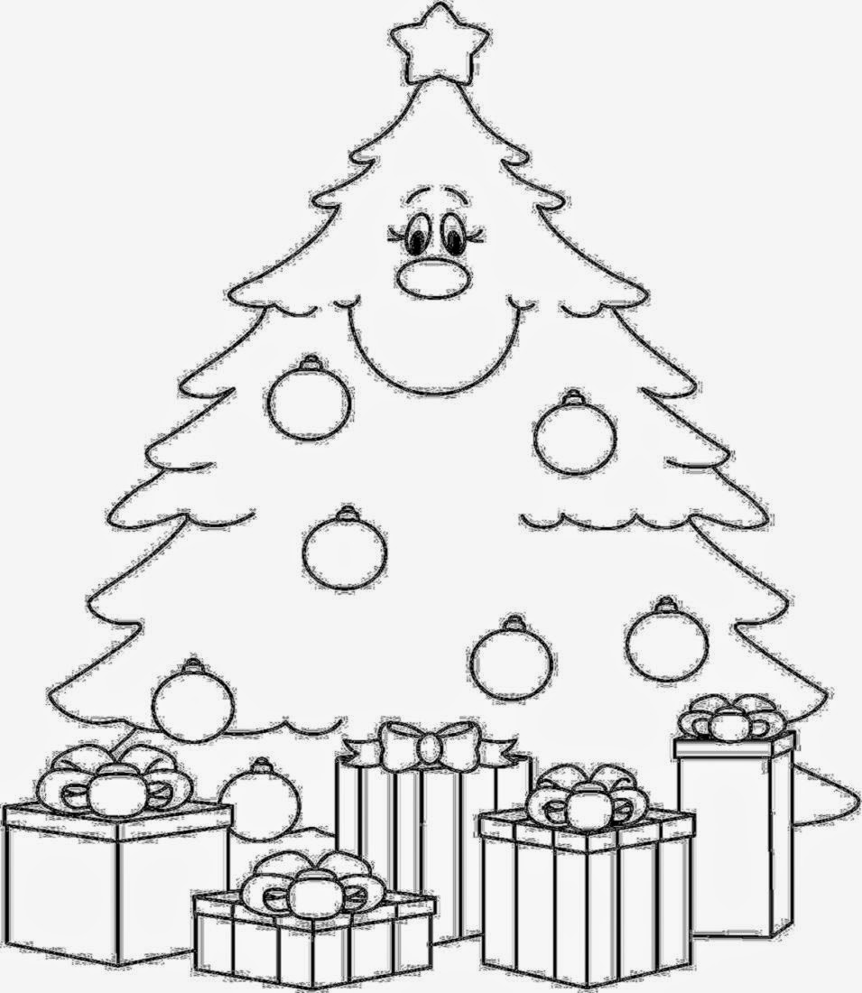christmas tree coloring pages printable for preschool id 47583