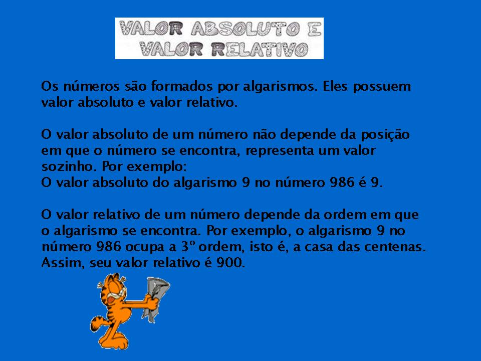 valor absoluto relativo: