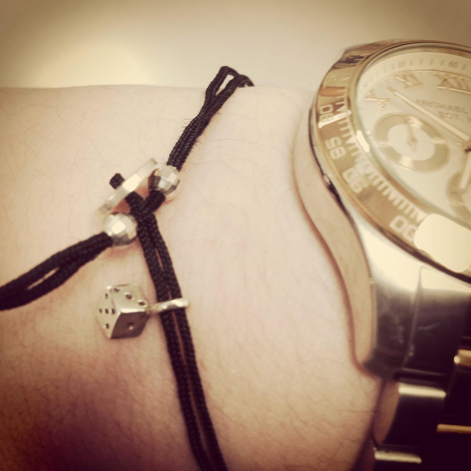 michael kors layton, alex woo dice cord bracelet