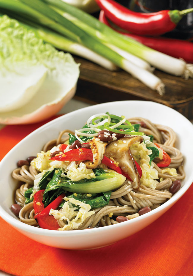 Buddhist Noodle Bowl recipe, from Vegan Everyday, by chef Doug McNish #vegan #healthy #wholefoods #glutenfree