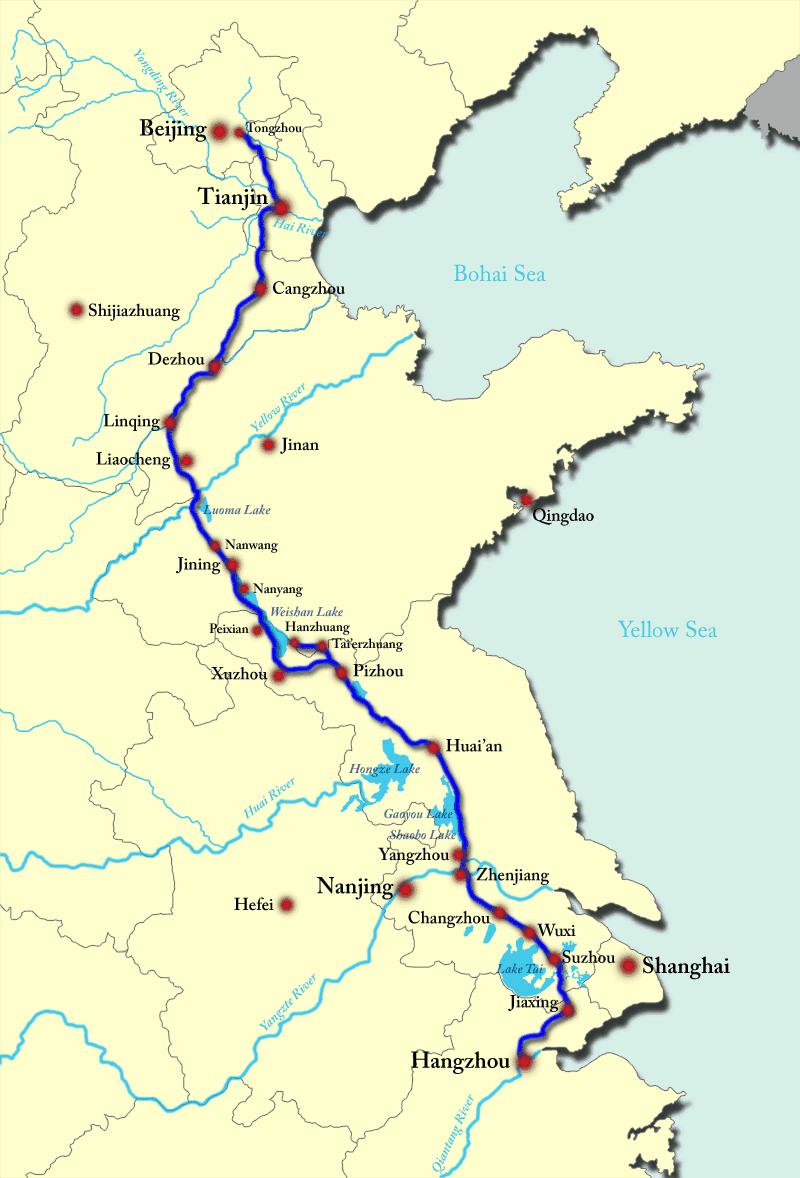 صور مذهلة: أطول ممر مائي من صنع الانسان - القناة الكبرى في الصين محفورة باليد على طول 1800 كم