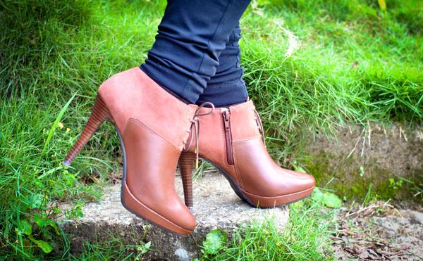 ankle boot marrom - sapato salto alto - Wirth